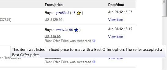 Ebay Displays Best Offer History In Seller Feedback Profiles