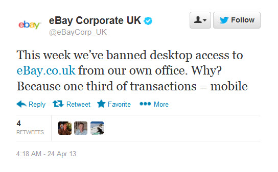 Ebay Bans Employees From Desktop Access To Its Site