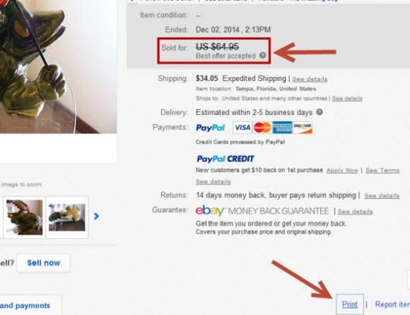 Ebay remove best offer option