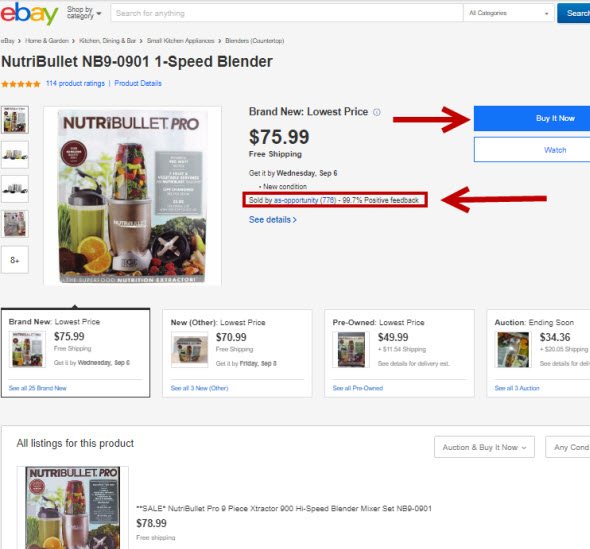Ebay Implements Amazon Style Buy Box
