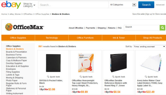 Ebay Nabs Another Retail Chain Officemax Opens Ebay Store