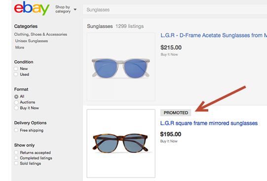 Ebay Launches Advertising For Sellers
