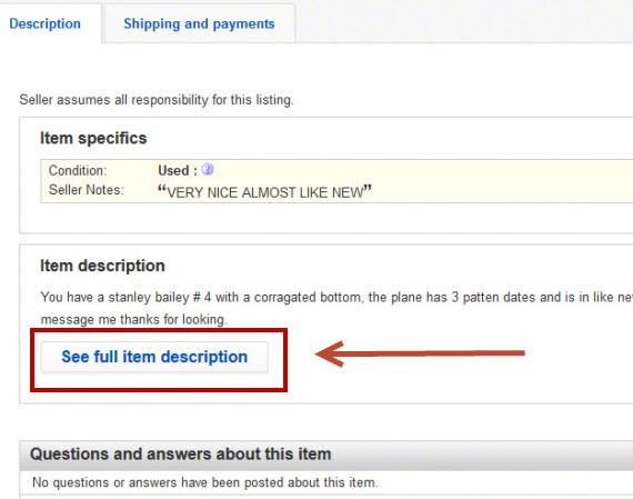 eBay Is Hiding Descriptions Once Again