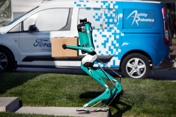 Ford unveils walking robot to bring parcels to your doorstep
