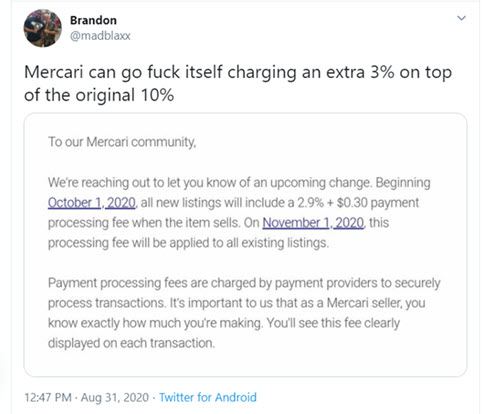 Mercari Selling App Adds New Fees