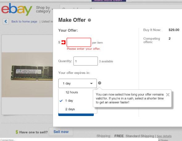 8ba99bb79c3413 eBay tweaked its Make an Offer (