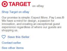 Breaking Target Stops Selling On Ebay