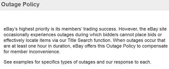 Should Ebay Credit Sellers For Site Disruption