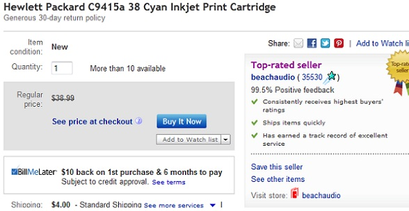 Ebay Tests Pricing Options Including See Price At Checkout