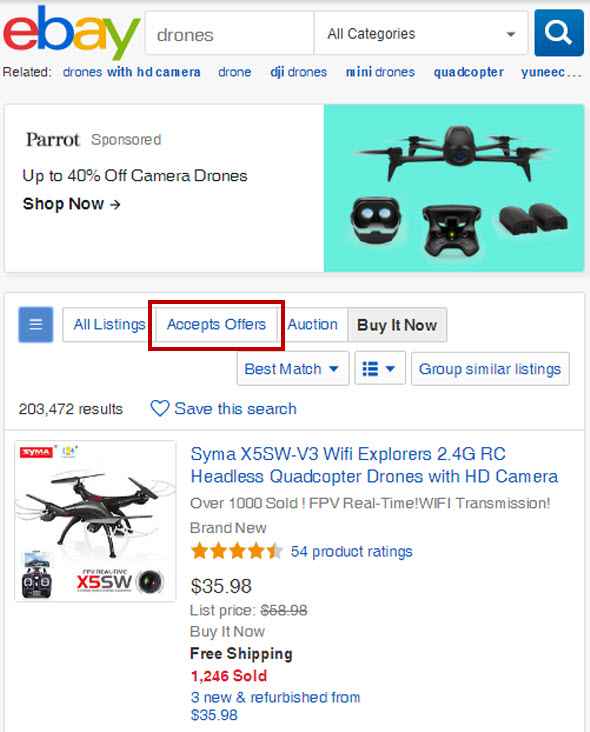 eBay Gives Best Offer Haggling Feature Greater Visibility