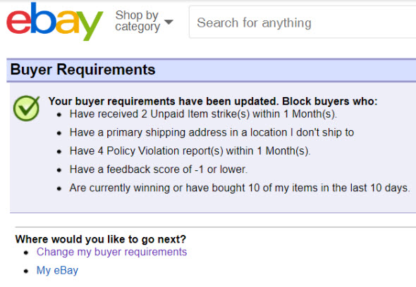 Sellers Can No Longer Block Ebay Buyers Without Paypal