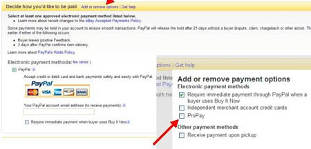 Ebay Payment Options >> Propay And The Ebay Paperless Payment Policy