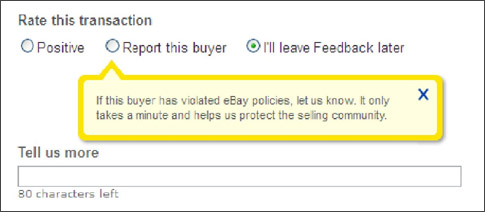 report an ebay buyer