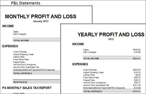 Doc12751650 Free Profit and Loss Statement Form Profit And – Profit and Loss Template Simple