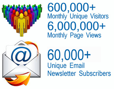6 Hundred Thousand Monthly Visitors, 6 Million page views