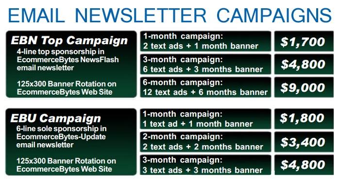 EcommerceBytes Newsletter rates