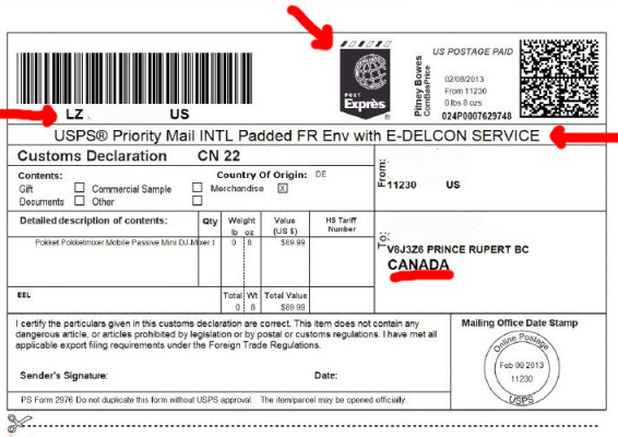 Spotted: Canadian First Class Mail Tracking