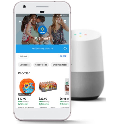 Google Express Walmart partnership