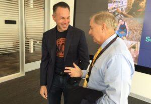 eBay CEO Devin Wenig and Senator Lindsey Graham