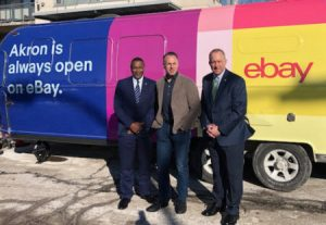eBay CEO poses with Akron Mayor