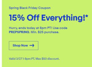 eBay Spring Black Friday sale