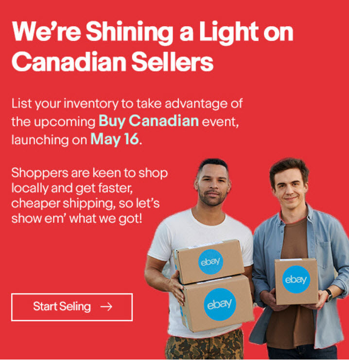 eBay Buy Canadian campaign