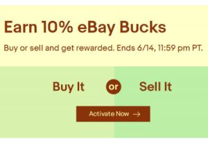 eBay Bucks June 2018 promotion