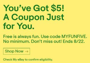 eBay Coupon summer 2018