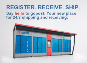 USPS gopost package pickup lockers