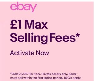 eBay UK Private Seller Promo