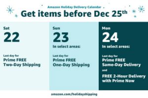Amazon holiday shipping deadlines