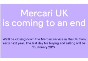 Mercari exits UK 2019