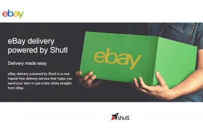 eBay delivery powered by Shutl