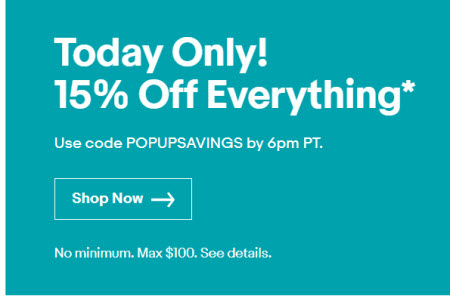 eBay runs 15 percent off post-Christmas flash sale