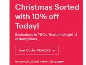 eBay UK Flash Sale December 2018