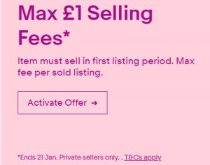 eBay UK Promo January 2019