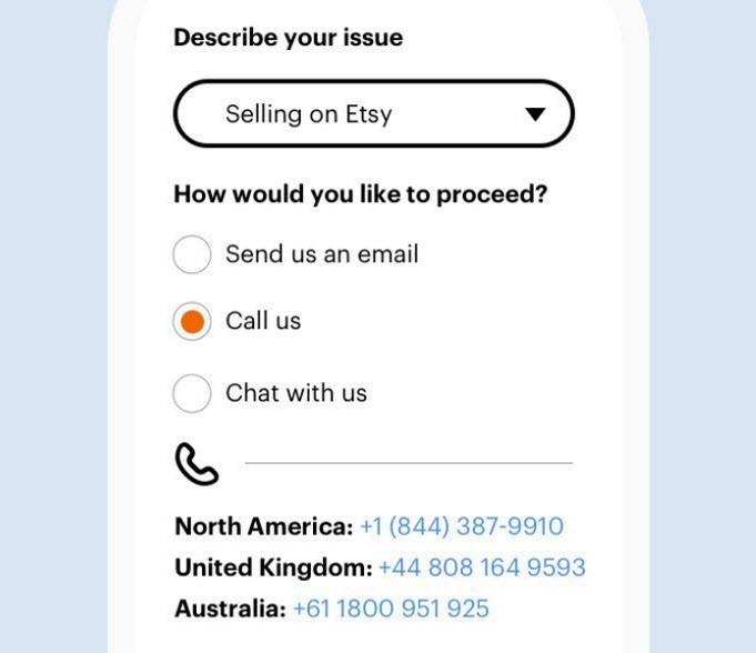 Etsy adds phone support
