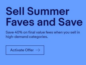 eBay Runs Seller Promotion to Get Summer Inventory