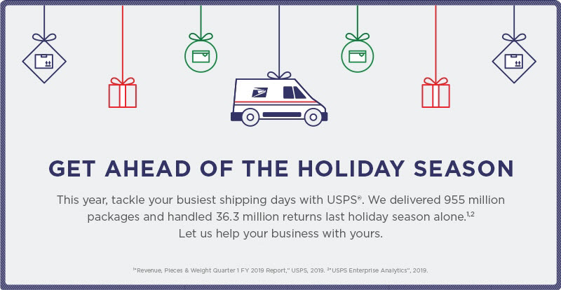 USPS Pre Holiday Shipping promotion